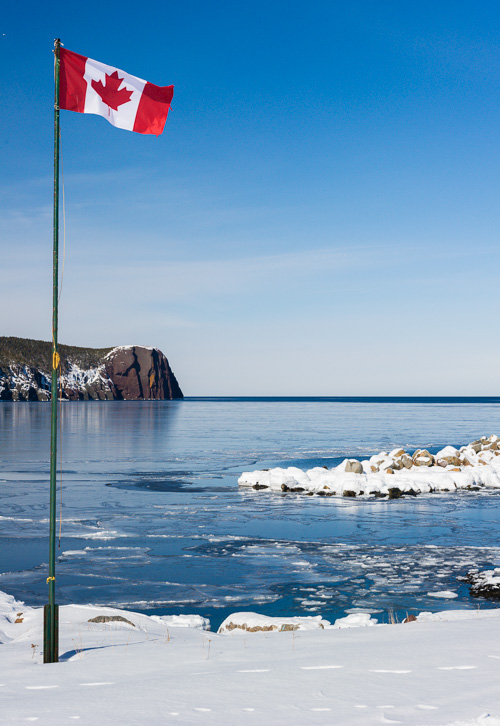 Frozen bay - Flatrock