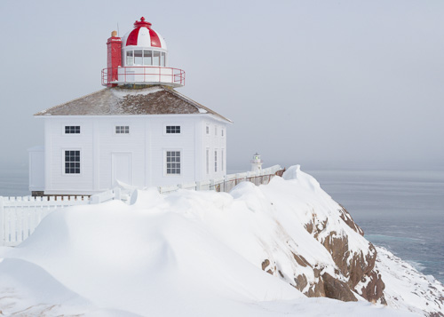 The old lighthouse in winter - Cape Spear