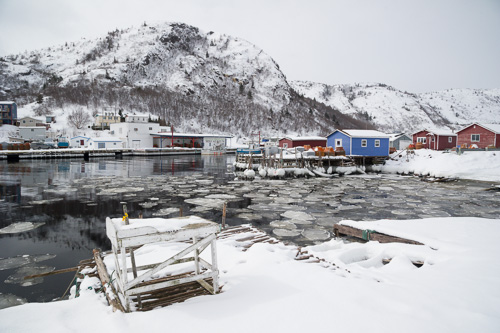 Ice in the harbour - Petty Harbour