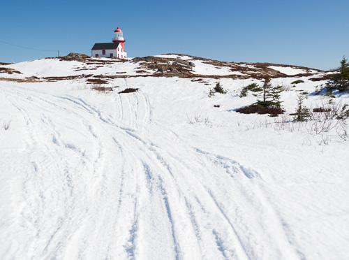 Snowmobile tracks - Ferryland