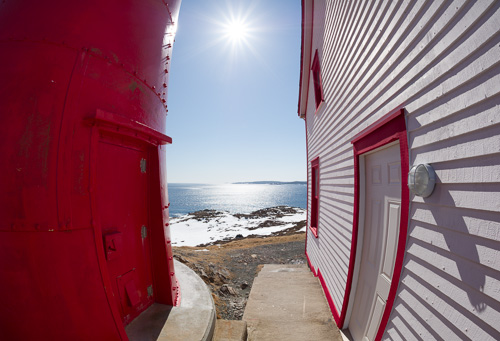 Bright sun at the lighthouse - Ferryland