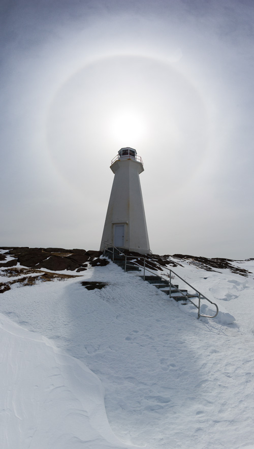 Light tower halo - Cape Spear