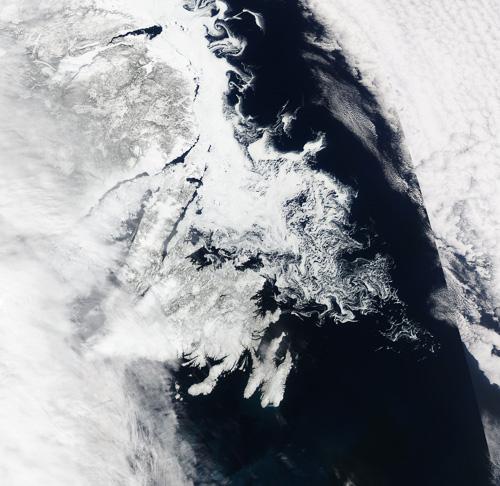 April 8th satellite image – Image Credit: NASA/GSFC, Rapid Response