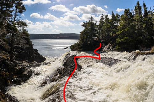 Motion River Falls - Silver Mine Head Path