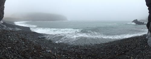 Foggy panorama - Middle Cove beach