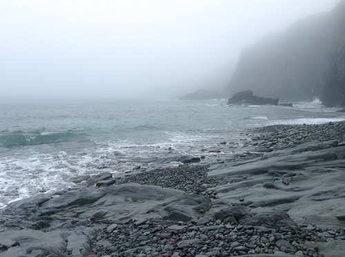 The fog is back - Middle Cove beach