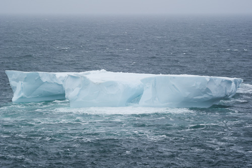 Tabular iceberg near Stiles Cove - Stiles Cove Path