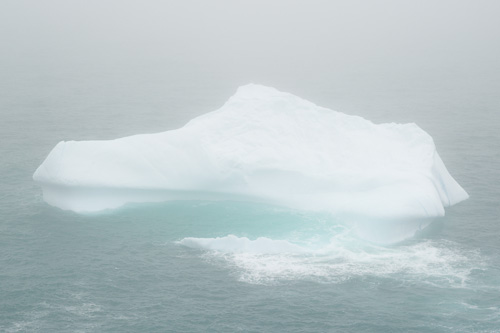 Iceberg in the fog - Father Troy's Trail