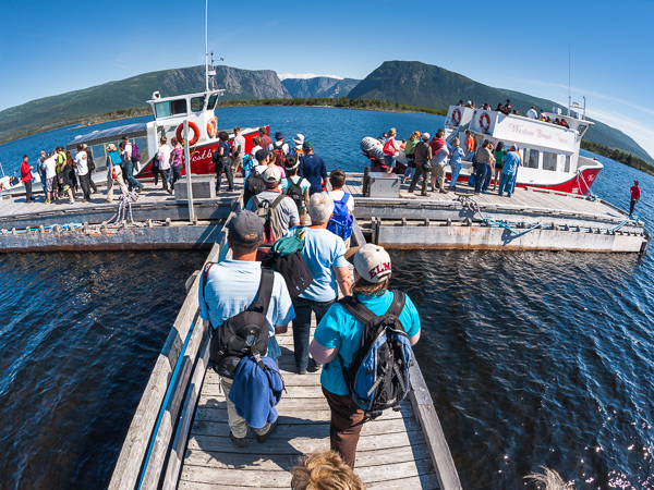 The pier at Western Brook Pond - Gros Morne NP