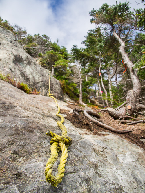 Rope-assisted climbs - White Horse Path