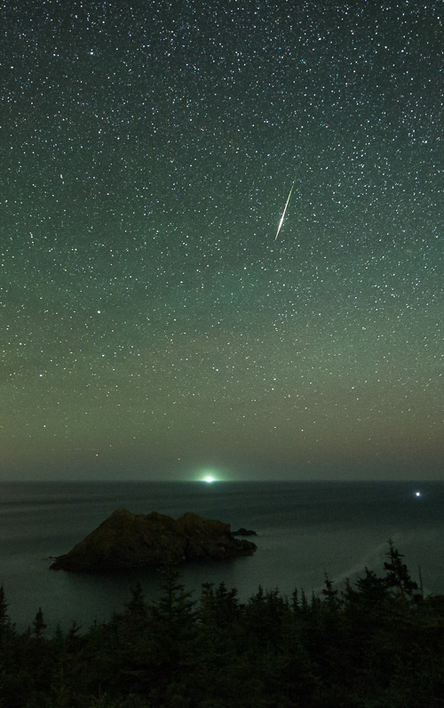 Meteor over Cape St. Francis - Biscan Cove Path