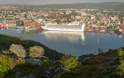 Spectacular view of downtown St. John's - Deadmans Bay Path