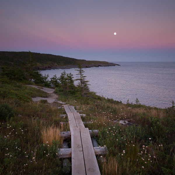 Moon rising over Useless Bay - Spout Path
