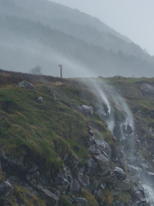 Reverse waterfall - Blackhead Path