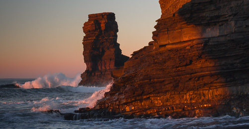 Sunset on the red cliffs - Bell Island