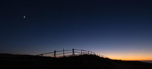 Moonrise after sunset - Bell island
