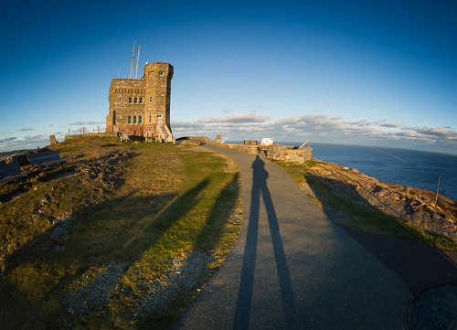 Casting a shadow on Signal Hill - St. John's