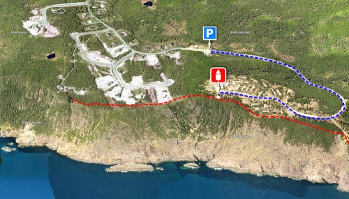 Residential development close to the East Coast Trail - Logy Bay