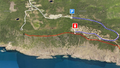 The East Coast Trail on Red Cliff - Logy Bay