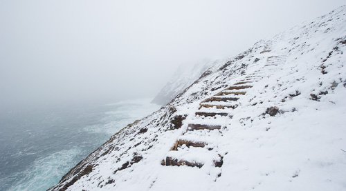 Winter weather on Torbay Point - Cobbler Path