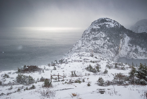 Walking through a snow squall - Sugarloaf Path