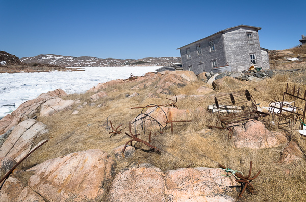 Fallen house in Deep Bay - Fogo Island