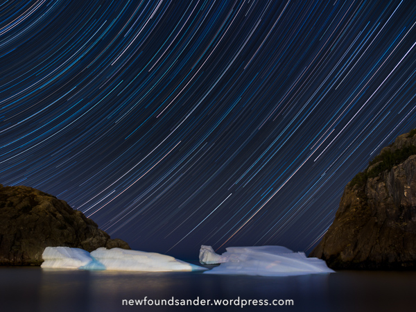 Iceberg star trails - Quidi Vidi