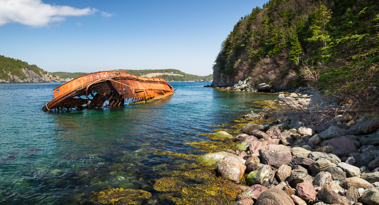 Shipwreck on the East Coast Trail | newfoundsander