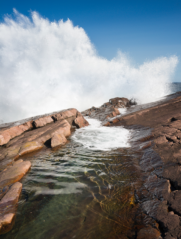 Crashing waves - Cape Spear Path