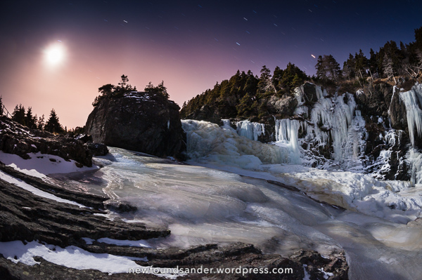 Frozen Whirly Pool Falls - Stiles Cove Path